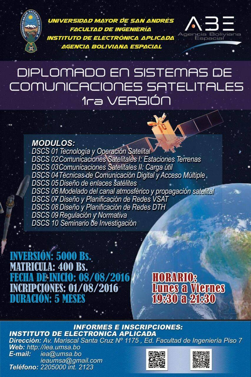 Diplomado en sistemas de comunicación satelitales