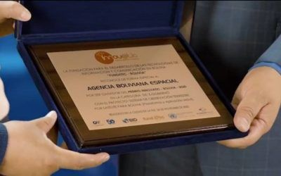 """La Agencia Boliviana Espacial gana el Premio INNOVATIC 2020 en la Categoría e-gobierno, con su proyecto """"Sistema de Observación Terrestre por Satélite para Bolivia"""" (Plataforma y Aplicación Móvil)"""